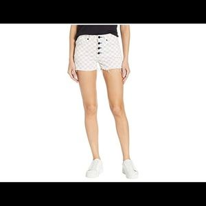 Juicy Couture Check denim shorts. NEW